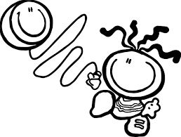 bubblegum balloon kids coloring page wecoloringpage