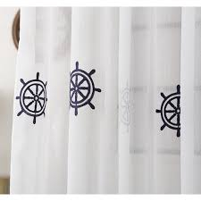 Nautical Room Divider Nautical Pinch Pleated Room Divider Sheer Curtains