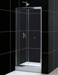 bifold shower door frameless dreamline showers butterfly frameless sliding shower door bi