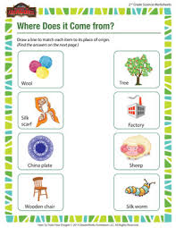 where does it come from u2013 2nd grade science worksheets free
