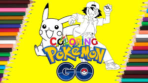pokemon coloring page pikachu and ash coloring book for kids