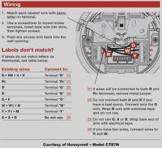 new 4 wire thermostat diagram honeywell wiring diy