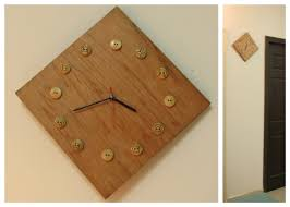 Wooden Wall Clock Wooden Wall Clock With Template Indian Woodworking Diy Arts