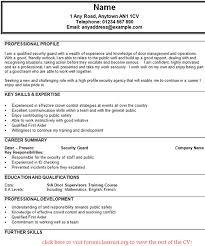 Security Supervisor Resume Amazing Doorman Resume Contemporary Simple Resume Office
