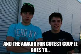 Cute Couple Meme - and the award for cutest couple goes to misc quickmeme