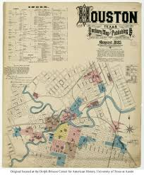 Map Of Houston Texas Sanborn Fire Insurance Map Of Houston Texas From 1885 3400x4115