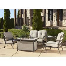patio conversation sets with gas fire pit home outdoor decoration