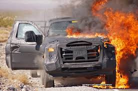 koenigsegg fire 2016 ford f series super duty prototype catches fire burns in desert