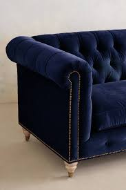 Chesterfield Sofa Sale by Blue Velvet Tufted Sofa For Sale Best Home Furniture Decoration