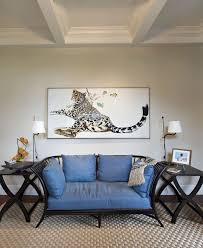 blooming colorful cheetah print with side table ceiling box beam
