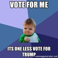 Vote For Me Meme - vote for me its one less vote for trump success kid meme generator