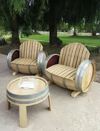 Cool Patio Chairs So Cool Patio Furniture Made From Wine Barrels Home Sweet Home