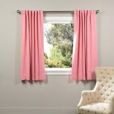 eclipse wave blackout pink polyester curtain panel 84 in length