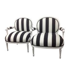 Black And White Striped Chair by Black And White Striped Pattern Tube Chair Combined Floral Dark