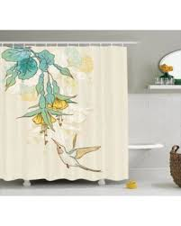 Tropical Bathroom Accessories by Spectacular Deal On Hummingbirds Decorations Shower Curtain Set