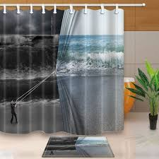 Themed Fabric Shower Curtains Furniture Magnificent Shower Curtain Fabric