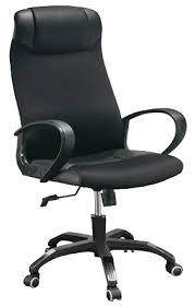 fauteuils bureau siege de bureau basculant en tissu et cuir noir pleven
