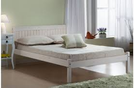 4ft bed birlea rio 4ft small double white washed pine wooden bed frame by