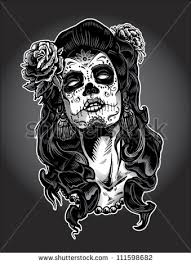 sugar skull head tattoo design in 2017 real photo pictures