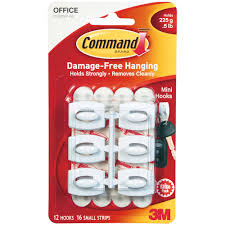 command mini hooks clear 18 hooks 24 strips pack walmart