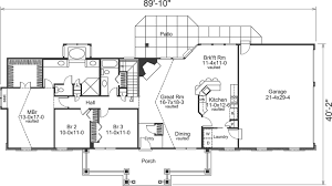 2 bedroom ranch house plans country style house plans plan 77 293