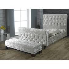 Velvet Sleigh Bed Sleigh Upholstered Bed Sleigh Bed Designs For A Wonderfully