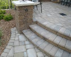 paver steps with concrete pavers with paver base with outdoor