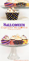 Halloween Printable Free Halloween Cupcake Wrappers Free Printable Scattered Thoughts