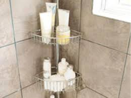 Shelf For Bathroom by Decor Corner Wire Shelves With Tile Wall And Glass Block Wall