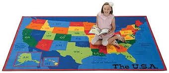 carpets for kids usa map value rug 4 u0027 x 6 u0027 48 95 maps