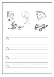 lowercase letter w worksheet free printable preschool and