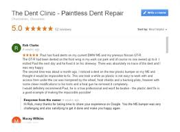 Paintless Dent Repair Estimate Sheet by The Dent Clinic Expert Paintless Dent Removal