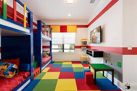 Fancy Childrens Room In Lego Theme With Blue Bunk Beds And - Fancy bunk beds