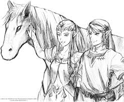 13 images of link and epona twilight princess coloring pages