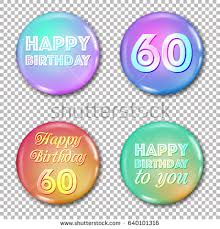 60 years birthday card 60th anniversary icons set happy birthday stock vector 640101316