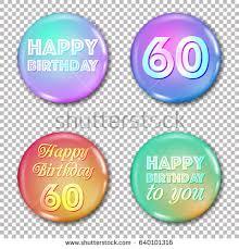 celebrating 60 years birthday 60th anniversary icons set happy birthday stock vector 640101316