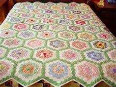 love the scrappiness hexie grandmother u0027s garden quilt quilts
