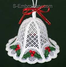 10311 free standing lace bells embroidery set crafts