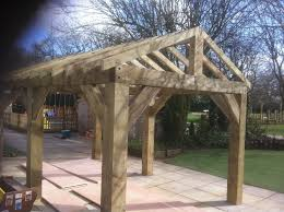 Outdoor Carport Canopy by Wooden Garden Shelter Structure Gazebo Tub Car Port Canopy