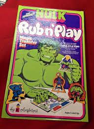 vintage incredible hulk rub u0027 play magic transfer u2013 lost