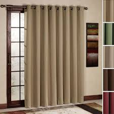 curtain for sliding glass door banded bamboo panel family room