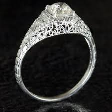 filigree engagement ring custom made deco filigree engagement ring semi mount diamond