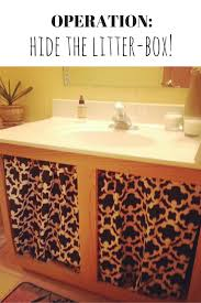 how to hide a litter box in small spaces remove the doors under