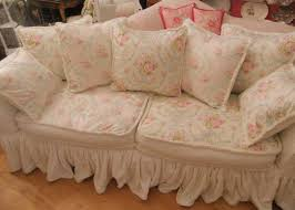 White Sofa Cover by White Shabby Chic Sofa Slipcovers With Pink Floral Design Home