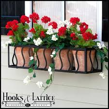 wrought iron window planter french box cages frenchwrought boxes