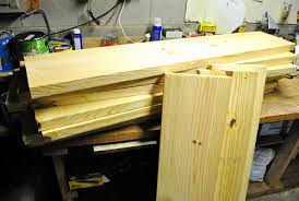 Making A Wood Desktop by How To Make A Planked Wood Desktop Counter Young House Love