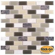interior u0026 decor waterproof peel and stick tile vinyl grout