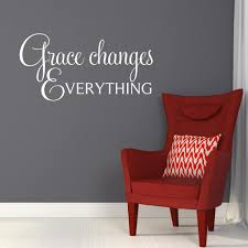 grace changes everything wall decal vinyl lettering spiritual