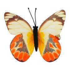 butterfly hair clip orange butterfly hair clip accessories ishka