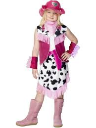 Horse Rider Halloween Costume Girls Childs Pink Rodeo Cowgirl Fancy Dress Costume Horse